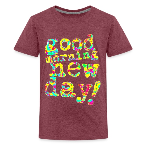 good morning new day yellow and red - Teenager Premium T-shirt