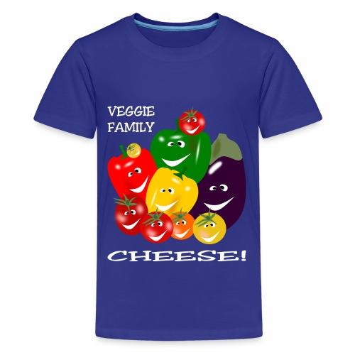 Veggie Family - Cheese! - Teenage Premium T-Shirt