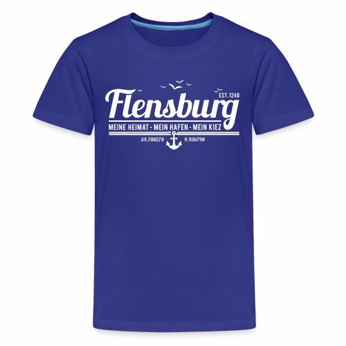 Flensburg - meine Heimat, mein Hafen, mein Kiez - Teenager Premium T-Shirt