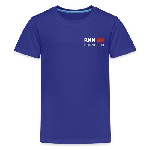 RNN BORNHOLM biały zgłoskami - Teenage Premium T-Shirt