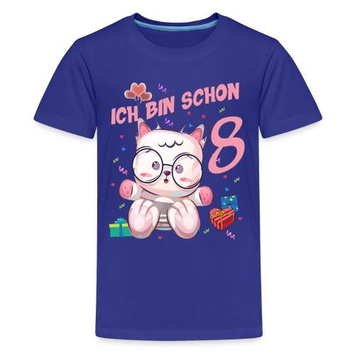 Katze Geburtstagsshirt – Geburstag Mädchen 8 Jahre - Teenager Premium T-Shirt