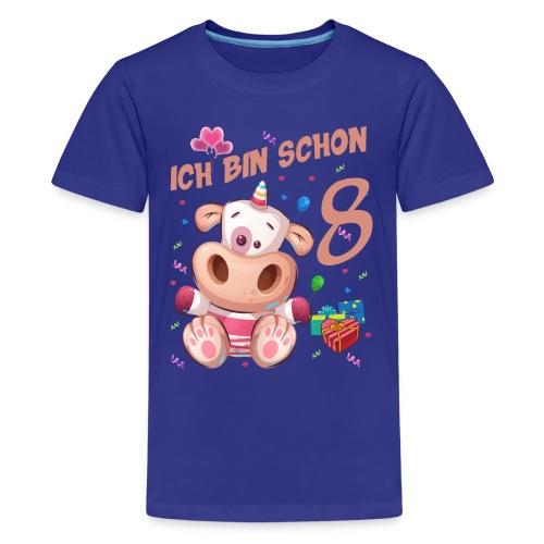 Kuh Geburtstagsshirt – Ich bin schon 8 Jahre - Teenager Premium T-Shirt