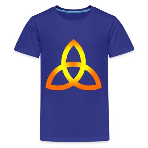Orangegoldene Triquetra - Teenager Premium T-Shirt