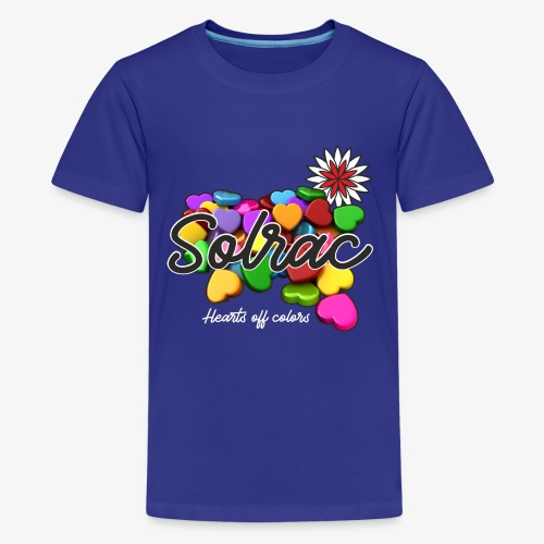 SOLRAC Hearts black - Camiseta premium adolescente