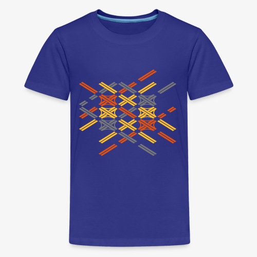 Autobahnkreuze Fragment bunt - Teenager Premium T-Shirt