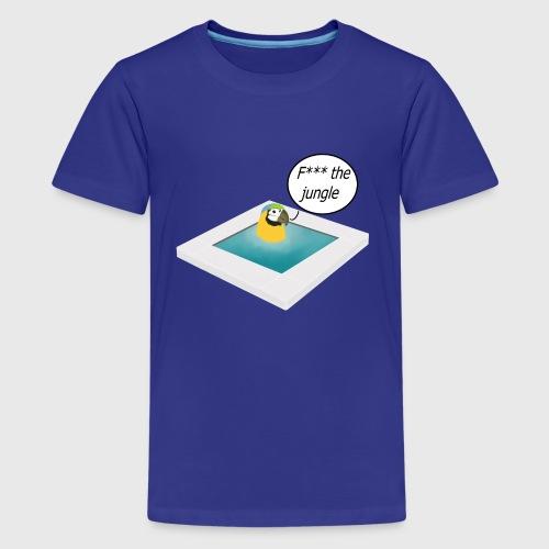 Pappagallo nella piscina - Maglietta Premium per ragazzi
