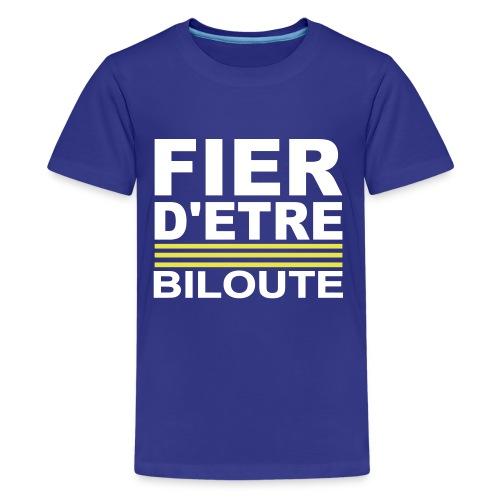 Fier BILOUTE Blanc 01 - T-shirt Premium Ado