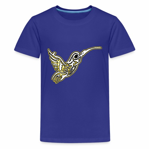 Colibri tête de mort Blanc - T-shirt Premium Ado