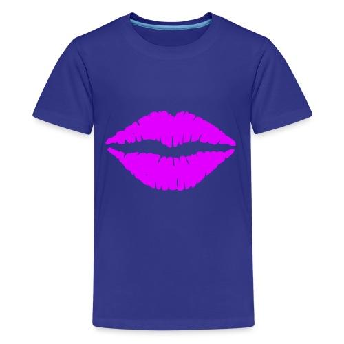 mund Lipen hel violet - Teenager Premium T-Shirt