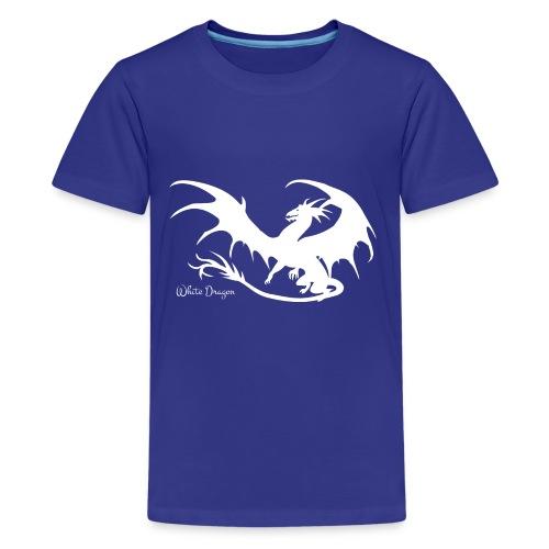 Weisser Drache - Teenager Premium T-Shirt