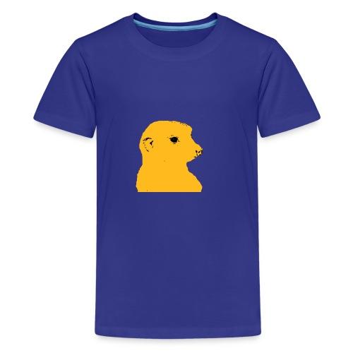 Erdmaennchen gelb schwarz - Teenager Premium T-Shirt