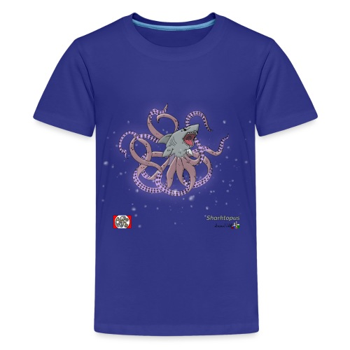 Sharktopus spread design png - Teenager premium T-shirt