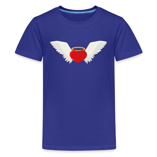 Winged heart - Angel wings - Guardian Angel - Teenage Premium T-Shirt