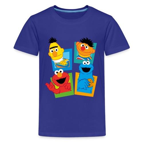 Sesamstraße Schild Ernie und Bert - Teenager Premium T-Shirt