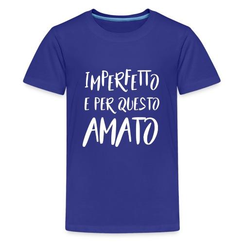 Imperfetto e per questo amato B - Maglietta Premium per ragazzi