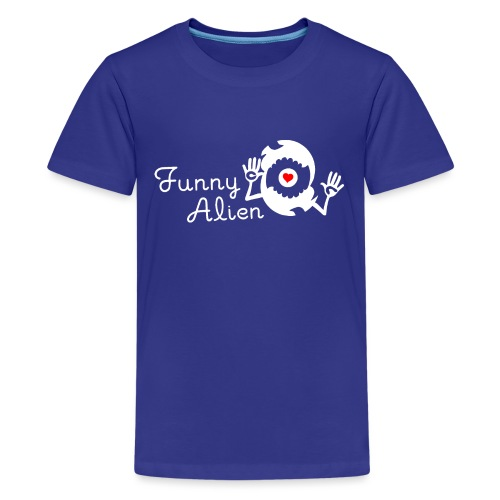 Funny Alien weiß - Teenager Premium T-Shirt