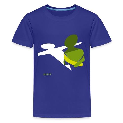 BEFIT_gr.png - Teenager Premium T-shirt