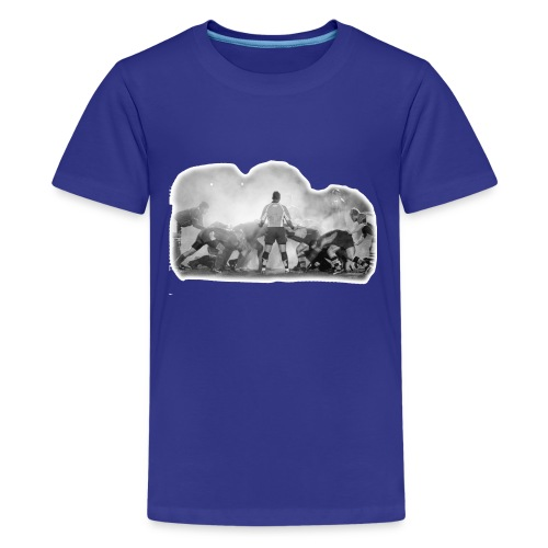 Rugby Scrum - Teenage Premium T-Shirt