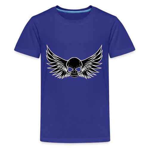 skull wings black - Teenager Premium T-shirt