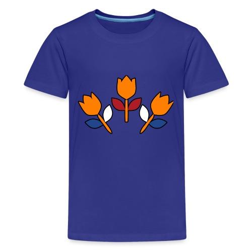 bewares emblem tulips - Teenager Premium T-shirt
