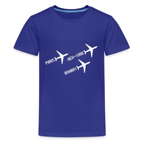 3 voyages avion white - T-shirt Premium Ado