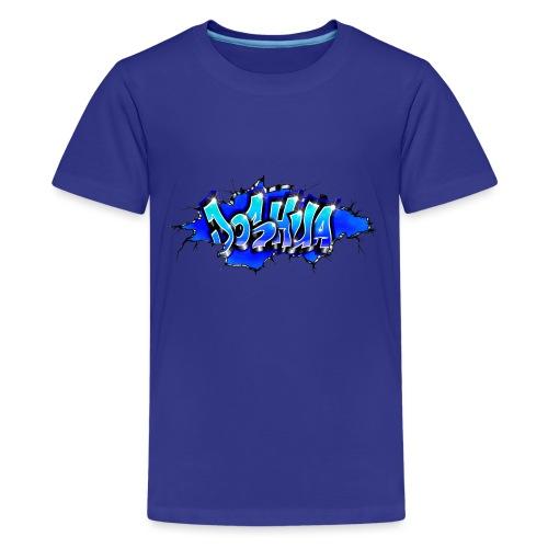 GRAFFITI JOSHUA WALL BROKEN BLUE - T-shirt Premium Ado