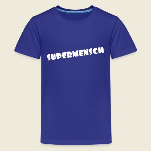 Supermensch in weiß 2 - Teenager Premium T-Shirt