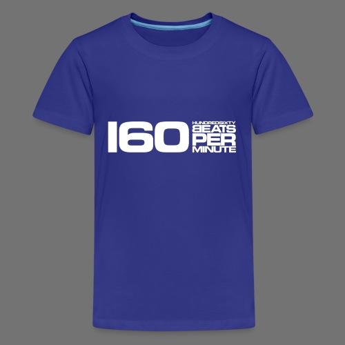160 BPM (valkoinen pitkä) - Teinien premium t-paita