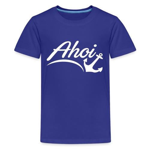 Ahoi Anker Herz Gruß Norddeutschland Hamburg Küste - Teenager Premium T-Shirt