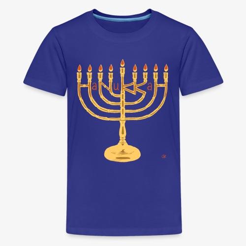 Hanukkah png - Teenager Premium T-Shirt
