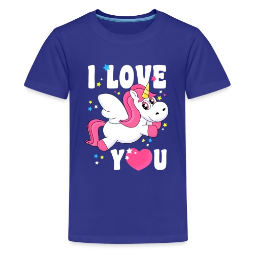 I love You Einhorn - Teenager Premium T-Shirt
