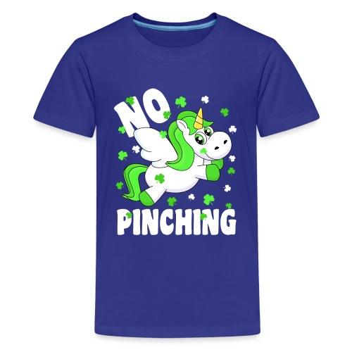 St. Patricks Day No Pinching Unicorn - Teenager Premium T-Shirt