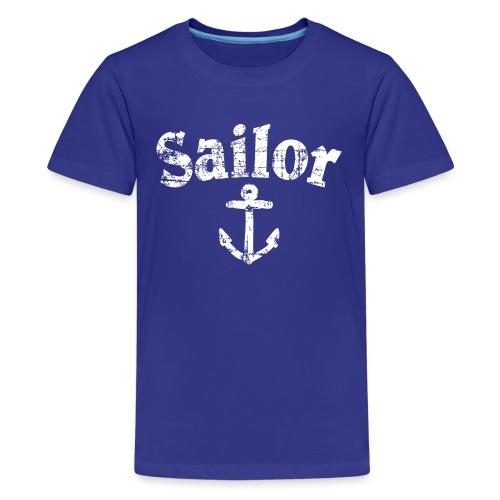 Sailor Anker Segeln Segel Segler (Vintage/Weiß) - Teenager Premium T-Shirt