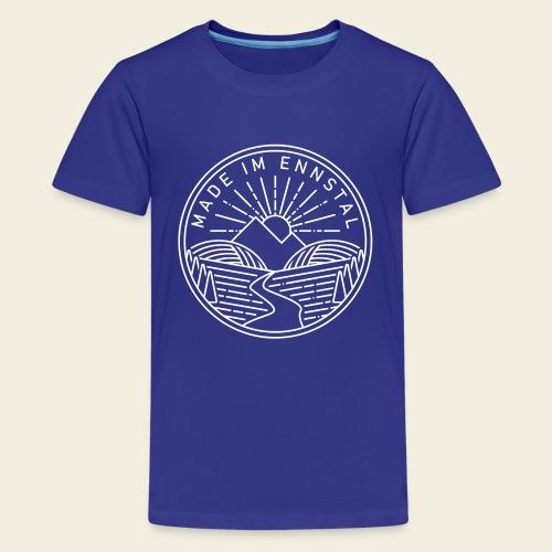 Made im Ennstal, weiß - Teenager Premium T-Shirt