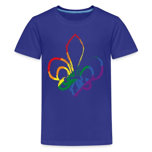 Pinselstrich Lilie Regebogenfahne - Teenager Premium T-Shirt