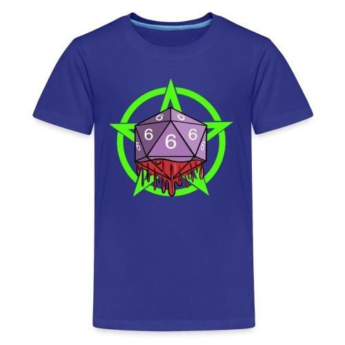 Würfel RPG Spiel Rollenspiele 666 mit Pentagramm - Teenager Premium T-Shirt
