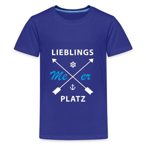Lieblingsplatz Meer - Teenager Premium T-Shirt