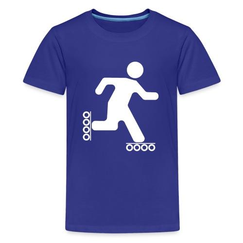 Strichmann Speedskater - Teenager Premium T-Shirt