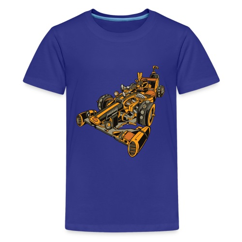 Auto de Carreras Steampunk - Camiseta premium adolescente