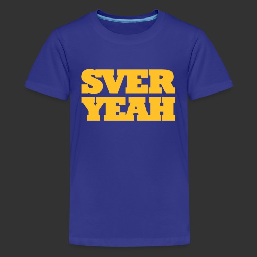 SVERYEAH BlåGul - Premium-T-shirt tonåring