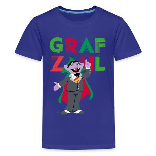 Sesamstraße Graf Zahl - Teenager Premium T-Shirt