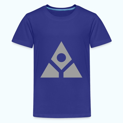 Sacred geometry gray pyramid circle in balance - Teenage Premium T-Shirt