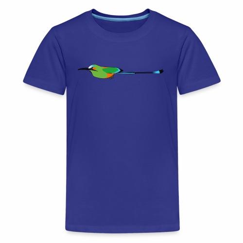 Turquoise-Browed Motmot (Torogoz/Guardabarranco) - Teenage Premium T-Shirt