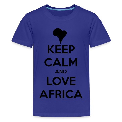 keep calm noir - T-shirt Premium Ado