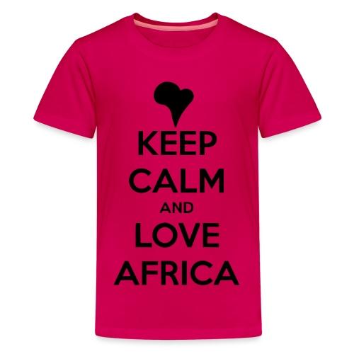 keep calm noir - T-shirt Premium Ado