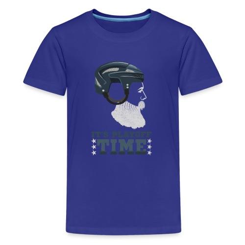 Lustiges Cooles Eishockey Geschenk Eishockeyspiele - Teenager Premium T-Shirt