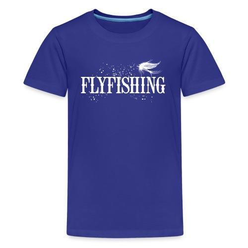 Flyfishing Fliegenfischen Köder Fliege - Teenager Premium T-Shirt