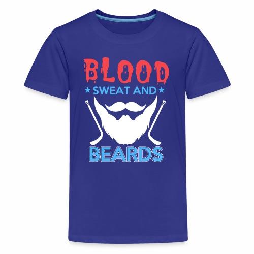 Blood Sweat And Beards - Teenage Premium T-Shirt