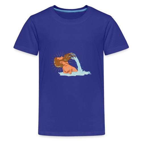 Bart Welle - lustiges Geschenk für Männer mit Bart - Teenager Premium T-Shirt
