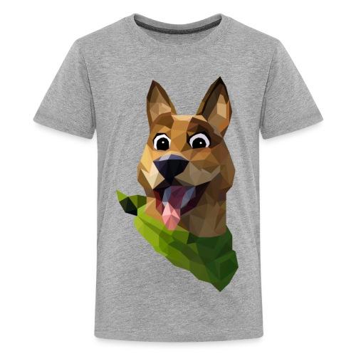 LOW POLY DOGO - T-shirt Premium Ado